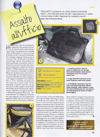 Italian Magazine features Ditch (TM): tactical computer-brief / bailout-bag